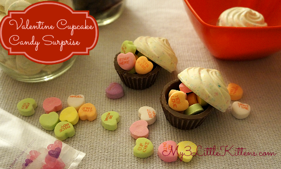 Valentine Candy Cupcake Surprise
