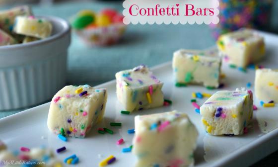 Confetti Fudge Bars