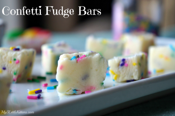 Confetti Fudge Bars