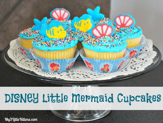 Disney Little Mermaid Cupcakes are perfect for any celebration!