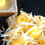 Cheesy Egg Toast Bake