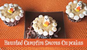 Haunted Campfire Smores Cupcakes