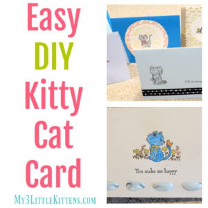 Easy DIY Kitty Cat Card