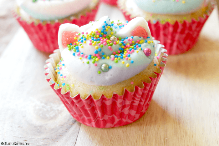 Meowgical Caticorn Cupcakes
