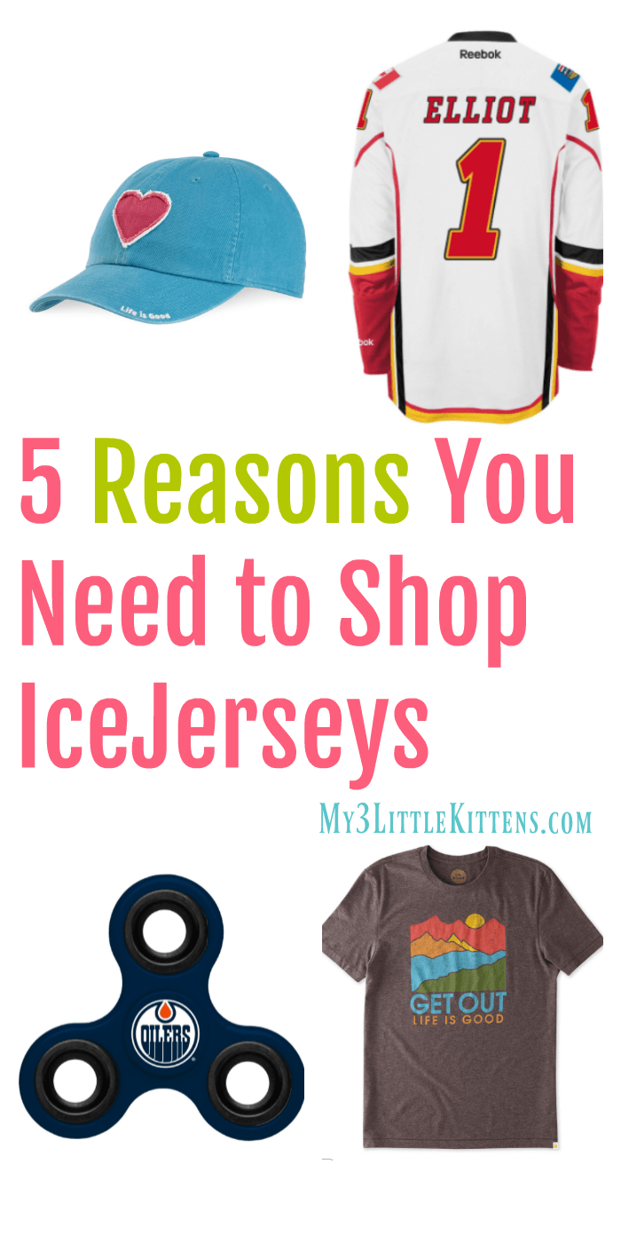 5 Reasons You Need to Shop IceJerseys. Sports, Women, Fidget goodies and more!