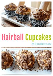 Hairball Cupcakes