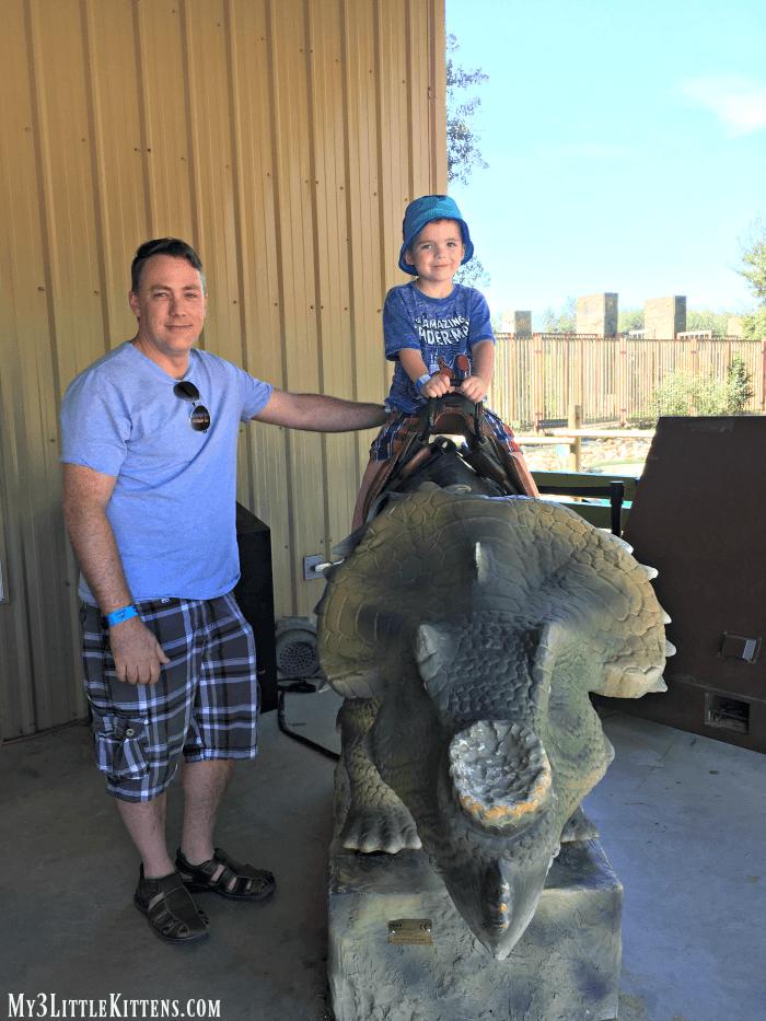 Jurassic Forest Prehistoric Dinosaur Park near Edmonton Alberta Canada. Great travel option!