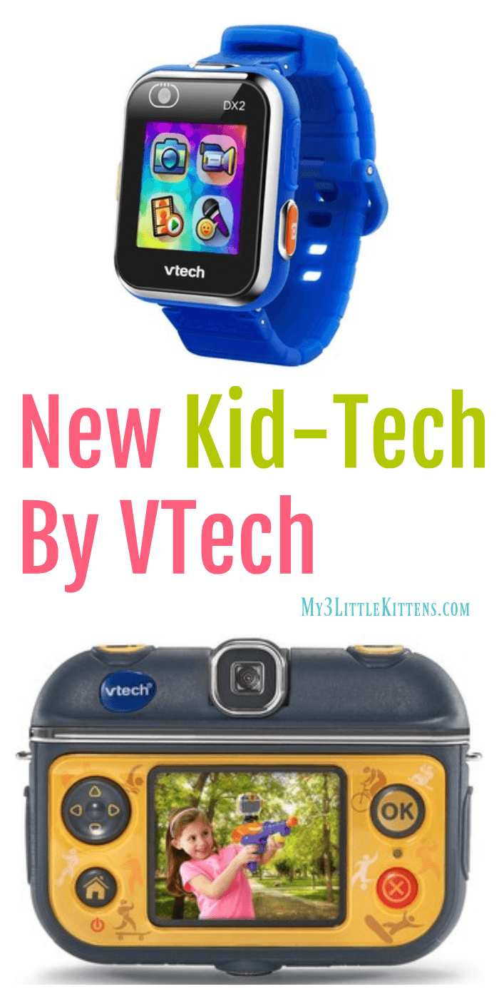 New Kid-Tech By VTech. Kidizoom Action Cam and Smartwatch!