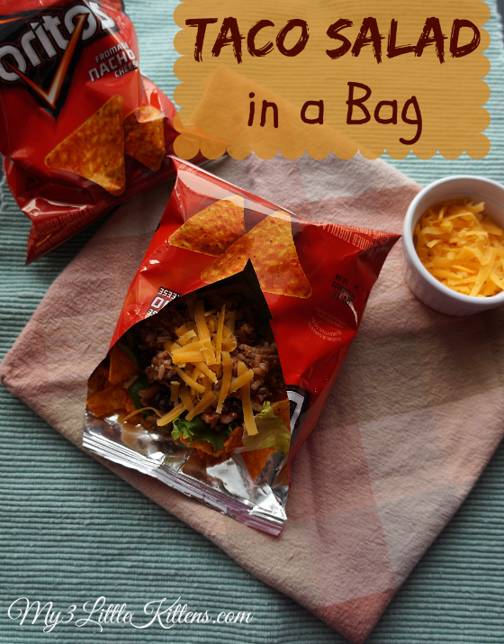 This kid friendly Taco Salad in a Bag is a perfect recipe for any night of the week!