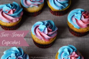 Two Toned Cupcakes Tutorial