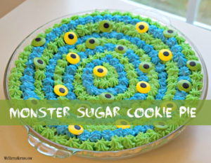 Monster Sugar Cookie Pie