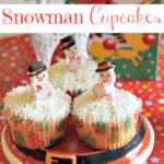 Super Easy Snowman Cupcakes