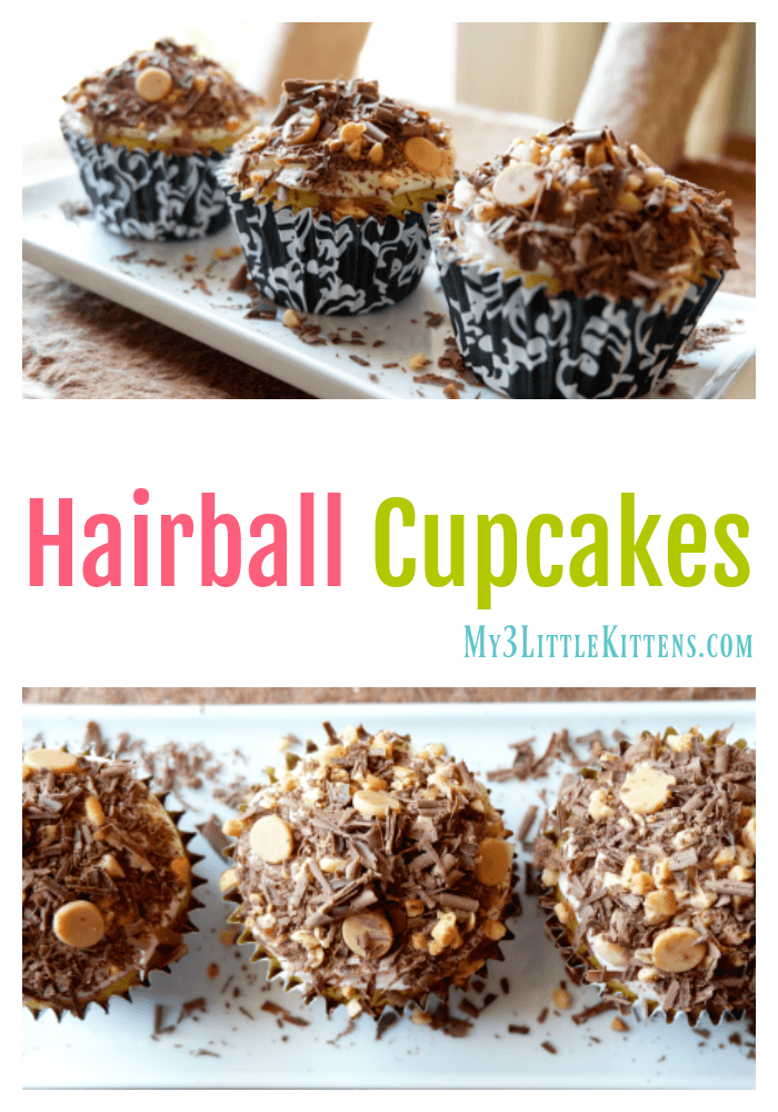 These Hairball Cupcakes are a delicious version vs the usual kitty cat mess!