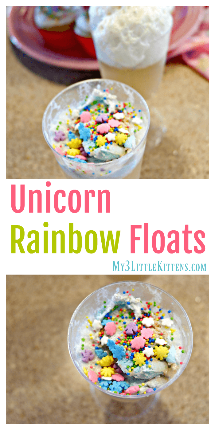 These Unicorn Rainbow Floats Make the Most Magical Drink! Kids of all ages will love this!