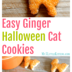 Easy Ginger Halloween Cat Cookies
