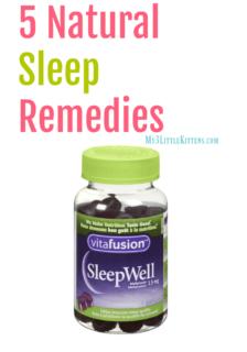5 Natural Sleep Remedies
