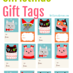 Printable Cat Christmas Gift Tags