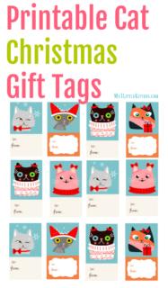 Printable Cat Christmas Gift Tags