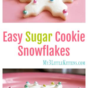 Easy Sugar Cookie Snowflakes