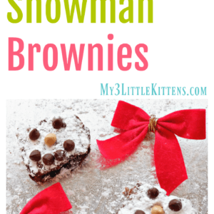 Easy and Fun Snowman Brownies
