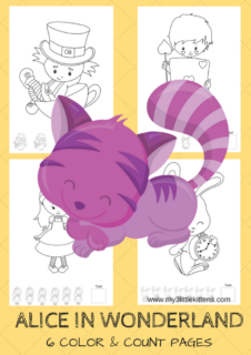 These Free Printable Alice in Wonderland Colour Count Sheets are perfect for kids of all ages!