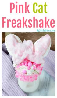 DIY Pink Cat Freakshake Recipe - Take a milkshake to the next level!
