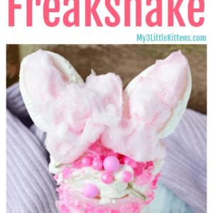 DIY Pink Cat Freakshake Recipe - Take a milkshake to the next level!